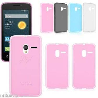 "PARA ALCATEL PIXI 3 4.0/4.5/5.0"" FUNDA CARCASA DE GEL TPU MATE FROSTED 1"
