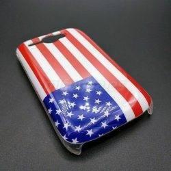 PARA HTC WILDFIRE G8 CARCASA FUNDA DURA CON BANDERA USA 1