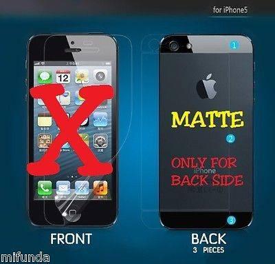 PROTECTOR DE TRASERA (3 PIEZAS) MATTE PARA IPHONE SE 5G 5S BACK FILM PROTECTOR