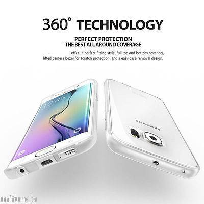 PARA SAMSUNG GALAXY S7 EDGE FUNDA DOBLE DE GEL TPU CON 360º DE PROTECCION TOTAL 8