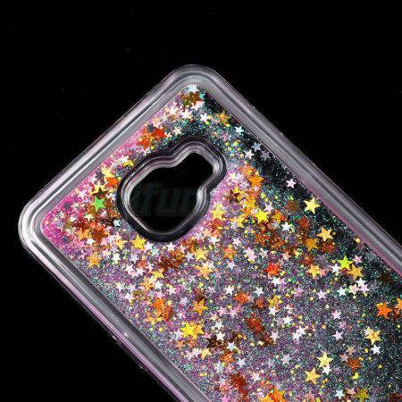 FOR SAMSUNG GALAXY C5 / C7 GLITTER QUICKSAND BLING 3D DYNAMIC LIQUID STARS CASE 1