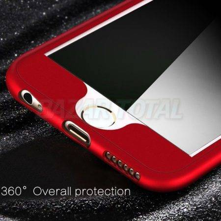 PARA IPHONE 7/7+/8/8+/X FUNDA CARCASA FULL BODY METALIZADA DE TPU PREMIUM 360º  1