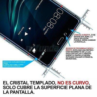 PARA VODAFONE SMART TURBO 7 PROTECTOR DE CRISTAL TEMPLADO 9H 2.5D 2
