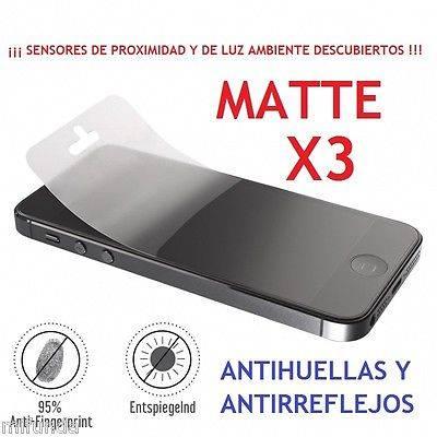 3x PROTECTOR DE PANTALLA MATTE PREMIUM PARA IPHONE SE 5G 5S 5C SCREEN PROTECTOR