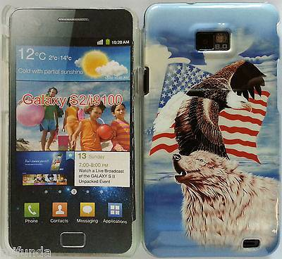 "CARCASA RIGIDA USA ""EAGLE & WOLF"" SAMSUNG GALAXY S2 i9100 CASE COVER, DE MADRID"