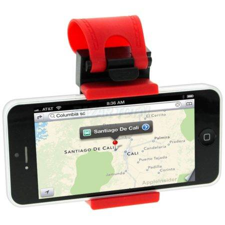 PARA APPLE IPHONE SE/5/5S/5C SOPORTE DE VOLANTE UNIVERSAL AJUSTABLE PARA MOVILES 1