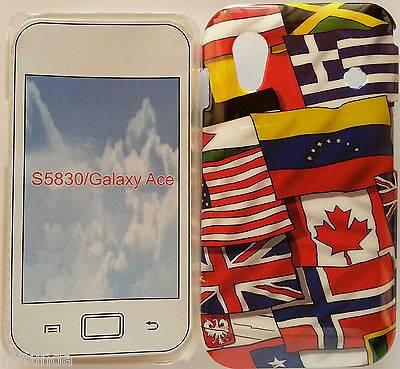 CARCASA FUNDA DURA DISEÑO BANDERAS PARA SAMSUNG GALAXY ACE S5830 FLAGS HARD CASE