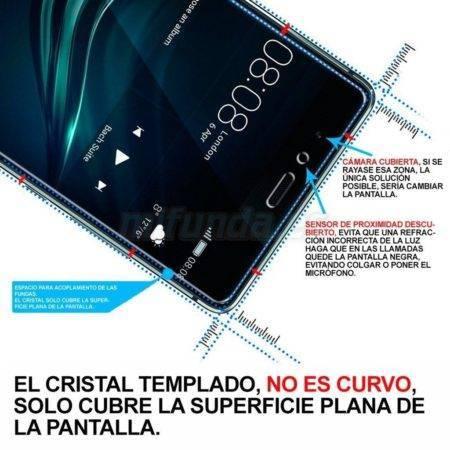 """PARA ALCATEL POP 4 PLUS 5.5"""" PROTECTOR DE CRISTAL TEMPLADO PREMIUM 9H 2.5D 1"""
