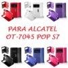 💥ALCATEL POP S7 FUNDA DE TAPA LIBRO CON VENTANA 9