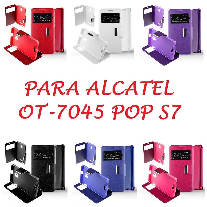 💥ALCATEL POP S7 FUNDA DE TAPA LIBRO CON VENTANA 1