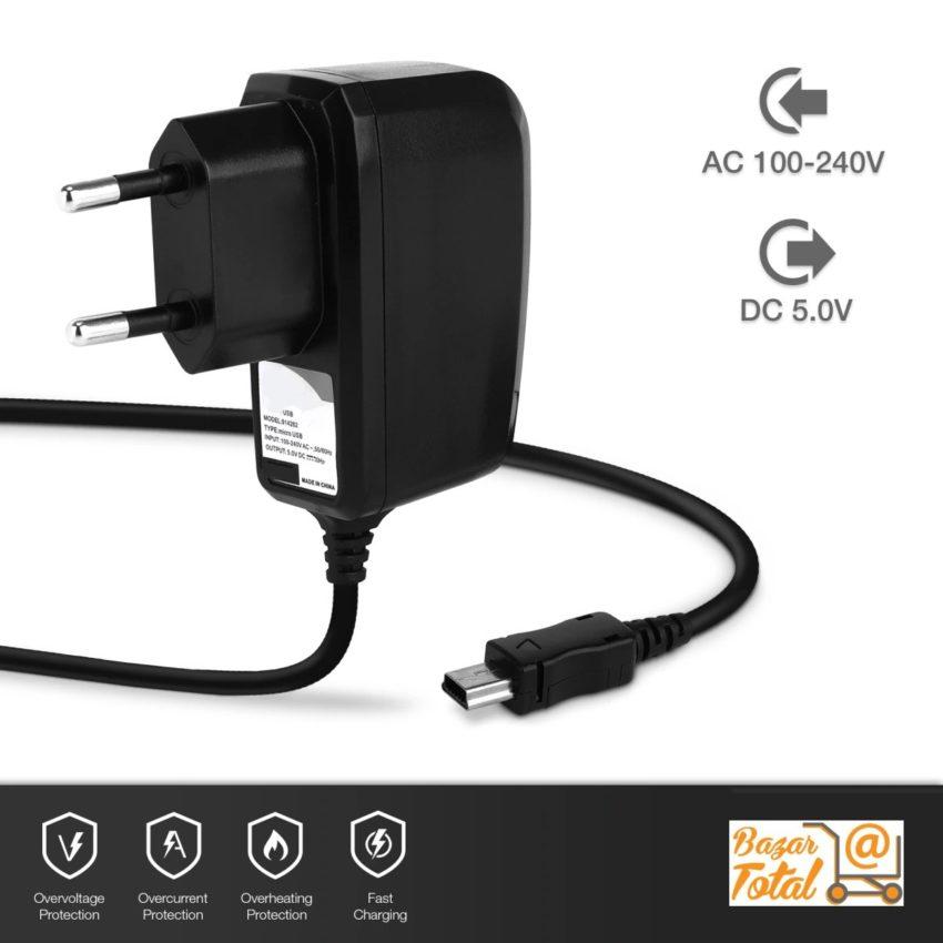 ⭐CARGADOR DE RED UNIVERSAL MINI USB 5 PIN 110-250 V AC / 5V DC TRAVEL CHARGER 1
