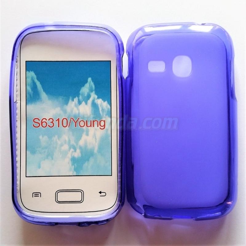 💥SAMSUNG GALAXY YOUNG S6310 FUNDA CARCASA DE GEL TPU MATE LILA 1