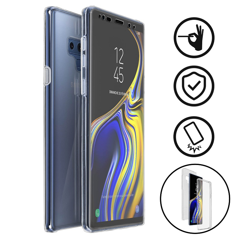 💥SAMSUNG GALAXY NOTE 9 FUNDA CARCASA DOBLE TRANSPARENTE CON PROTECCION TOTAL 360º 1