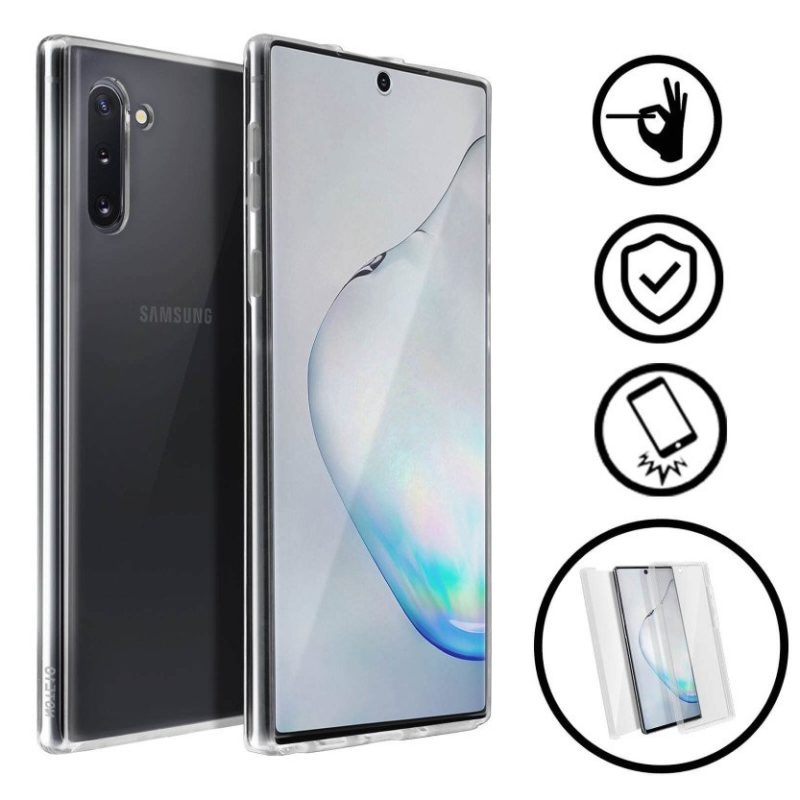 💥SAMSUNG GALAXY NOTE 10 FUNDA CARCASA TRANSPARENTE DOBLE CON PROTECCION 360º 1