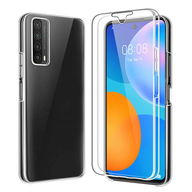 💥HUAWEI P SMART 2021 FUNDA CARCASA DOBLE TRANSPARENTE CON PROTECCION TOTAL 360º 1
