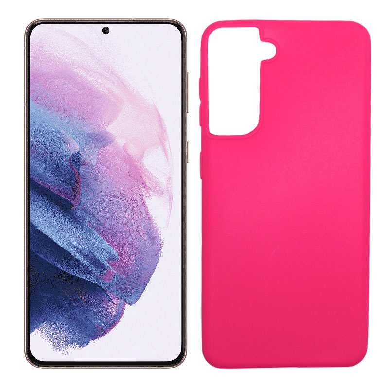 💥SAMSUNG GALAXY S21 PLUS FUNDA CARCASA DE GEL TPU MATE ROSA 1