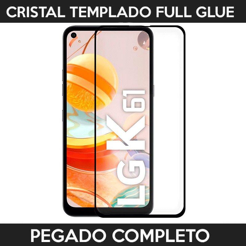 ✅LG K61 2020 PROTECTOR DE PANTALLA DE CRISTAL TEMPLADO FULL GLUE 9H 11D 1