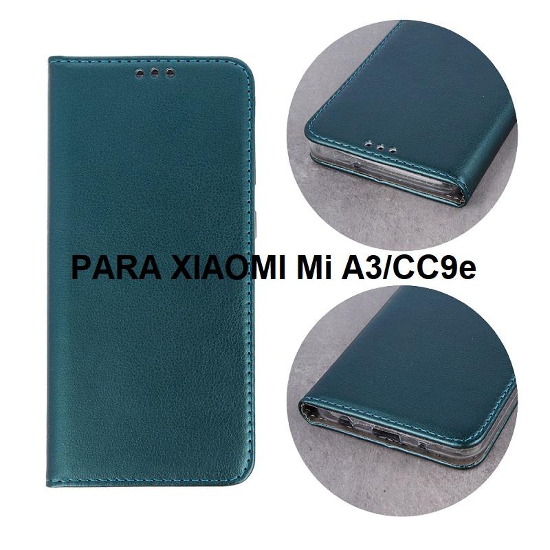 ✅XIAOMI MI A3/CC9e FUNDA DE TAPA SMART MAGNETIC VERDE 1