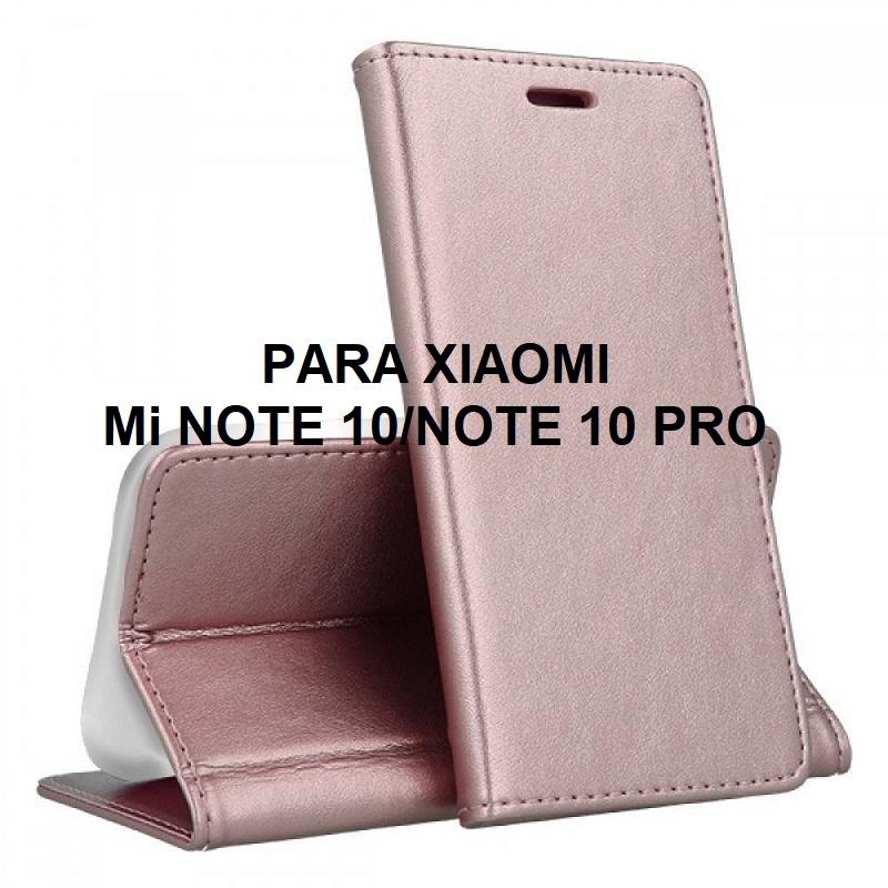 ✅XIAOMI MI NOTE 10/NOTE 10 PRO FUNDA DE TAPA SMART MAGNETIC ORO ROSA 1