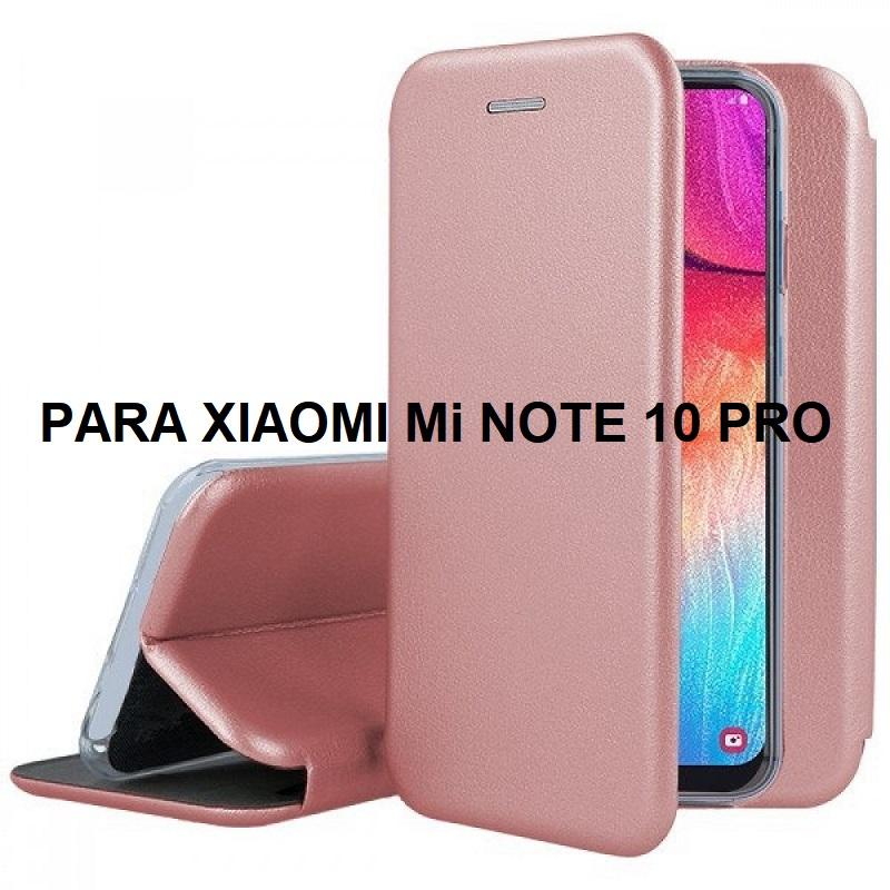 ✅XIAOMI MI NOTE 10/NOTE 10 PRO FUNDA DE TAPA SMART DIVA ROSA DORADA 1